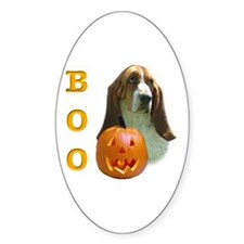 Basset Hound Boo Oval Decal