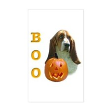 Basset Hound Boo Rectangle Decal