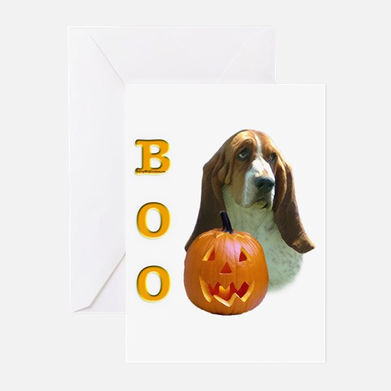 Basset Hound Boo Greeting Cards (Pk of 10)