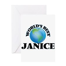 World's Best Janice Greeting Cards