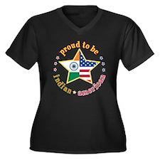 Women's Plus Size V-Neck Dark T-Shirt/Proud