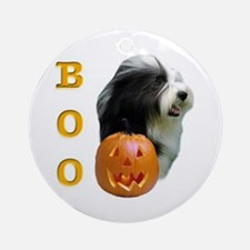 Bearded Collie Boo Ornament (Round)