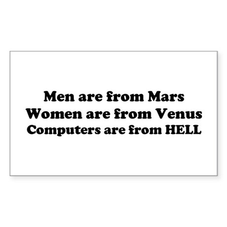 Computers are from HELL<br> Rectangle Sticker