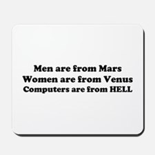 Computers are from HELL<br> Mousepad