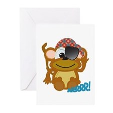 Cute Goofkins Monkey Pirate Greeting Cards (Packag