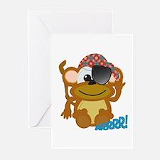 Cute Goofkins Monkey Pirate Greeting Cards (Packag