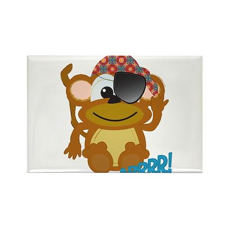 Cute Goofkins Monkey Pirate Rectangle Magnet (100