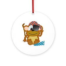 Cute Goofkins Monkey Pirate Ornament (Round)