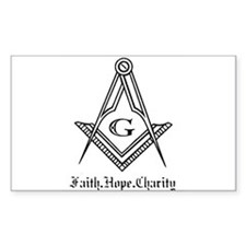 Masonic Rectangle Decal