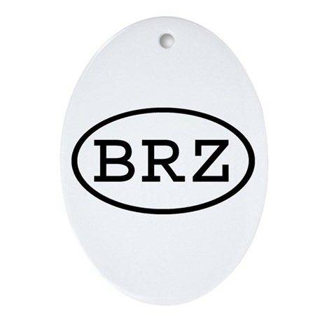 BRZ Oval Oval Ornament