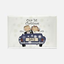 Cute Wedding car Rectangle Magnet
