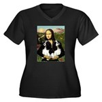Mona's 2 Cavaliers Women's Plus Size V-Neck Dark T