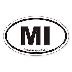 Mountain Island Lake MI Euro Oval Decal