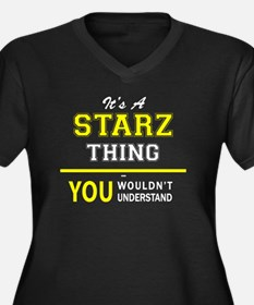 Cute Starz Women's Plus Size V-Neck Dark T-Shirt