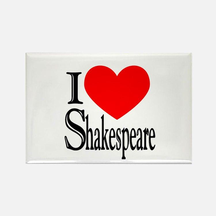 I Love Shakespeare Rectangle Magnet