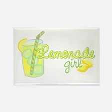 Lemonade Girl Rectangle Magnet