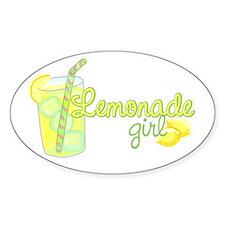 Lemonade Girl Oval Decal