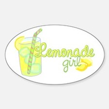 Lemonade Girl Oval Decal