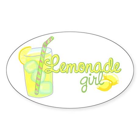 Lemonade Girl Oval Sticker
