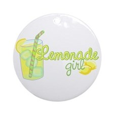 Lemonade Girl Ornament (Round)