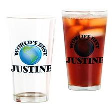 World's Best Justine Drinking Glass