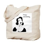 Knitting Project Tote Bag