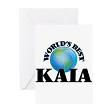 World's Best Kaia Greeting Cards