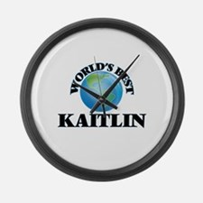World's Best Kaitlin Large Wall Clock