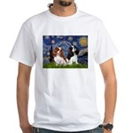 Starry Cavalier Pair White T-Shirt