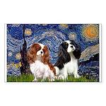 Starry Cavalier Pair Sticker (Rectangle)