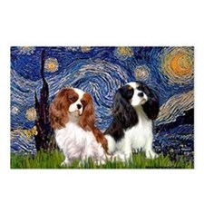 Starry Cavalier Pair Postcards (Package of 8)