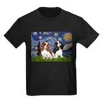 Starry Cavalier Pair Kids Dark T-Shirt