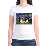 Starry Cavalier Pair Jr. Ringer T-Shirt
