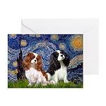 Starry Cavalier Pair Greeting Cards (Pk of 10)
