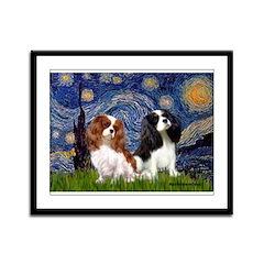 Starry Cavalier Pair Framed Panel Print