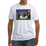 Starry Cavalier Pair Fitted T-Shirt