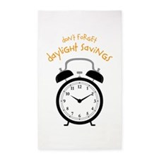 Don't Forget Daylight Savings 3'x5' Area Rug
