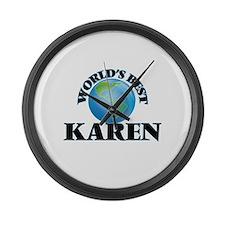 World's Best Karen Large Wall Clock