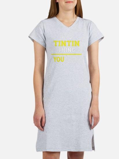 Funny Tintin Women's Nightshirt