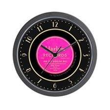 Harlem Records 78 Record Label Wall Clock