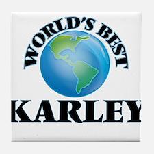 World's Best Karley Tile Coaster