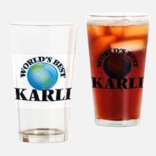 World's Best Karli Drinking Glass