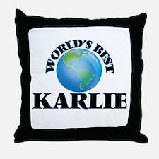 World's Best Karlie Throw Pillow