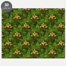 Golden Holly Christmas Puzzle