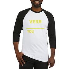 Funny Verb Baseball Jersey