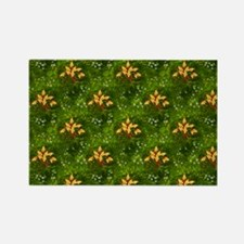 Golden Holly Christmas Magnets