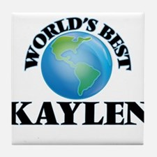 World's Best Kaylen Tile Coaster