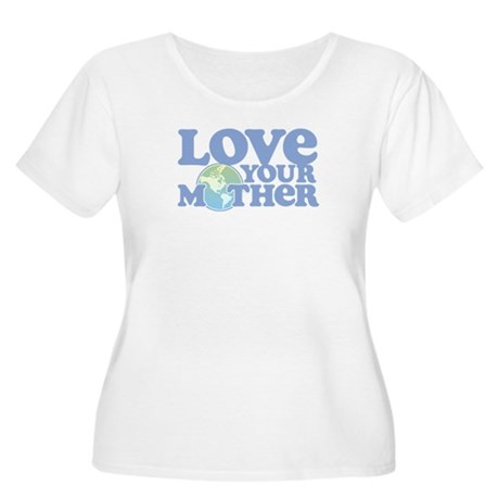 Retro Love your Mother Plus Size Scoop Neck Tee