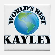 World's Best Kayley Tile Coaster