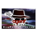 DRO Agent 1320 Rectangle Sticker